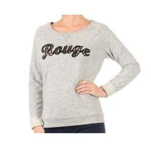 Scotch   Soda Sweaters - Maison Scotch   Soda Grey Rouge Lace Sweatshirt 29538f0807ac